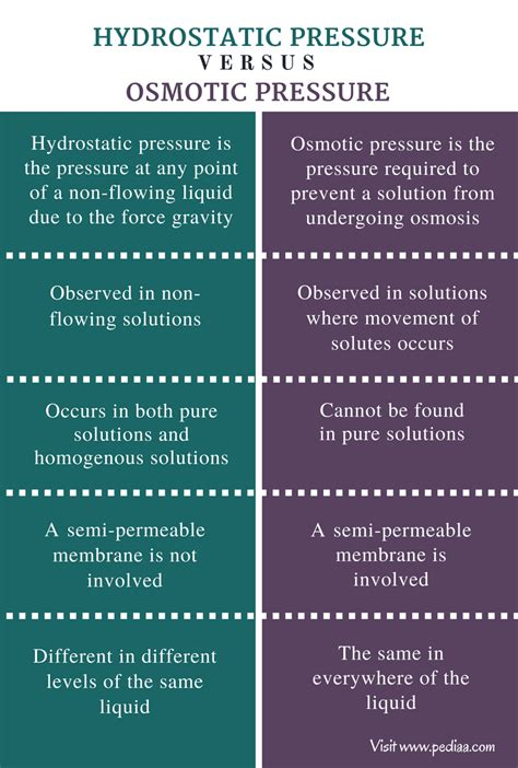 Difference Between Hydrostatic and Osmotic Pressure