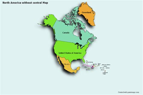Create Custom North America Without Central Map Chart with