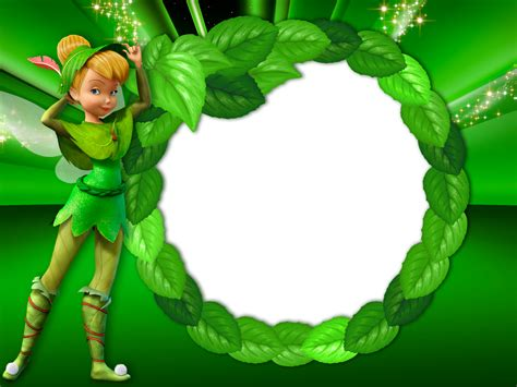 Green Transparent Kids Frame With Tinkerbell Fairy