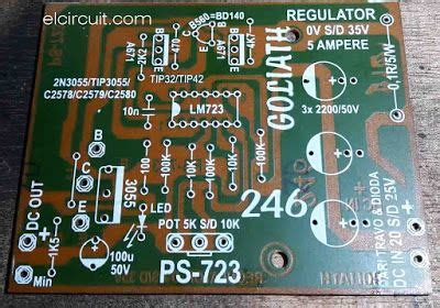 PCB Layout Adjustable power supply LM723