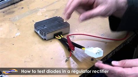 How to test a diode on a regulator rectifier using a
