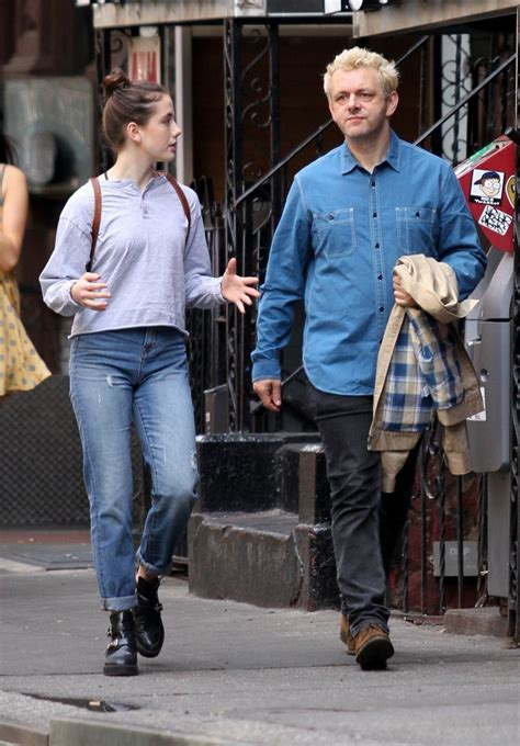 LILY MO SHEEN and Michael Sheen at a Park New York 10/08