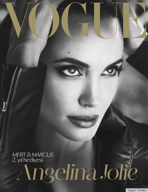 Angelina Jolie 'Vogue Turkey' Cover Is Missing A Right Leg