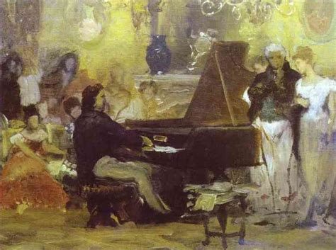 Chopin Performing in the Guest-Hall of Anton Radziville in