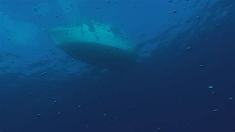 Diver Boat, Under Water View Stock Footage Video 4363202